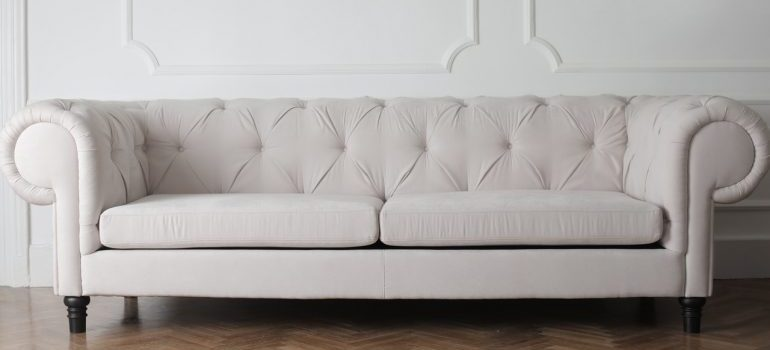 A white couch