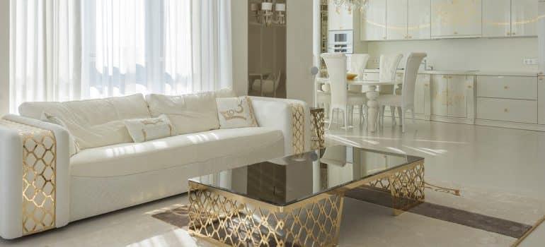 Expensive white furniture
