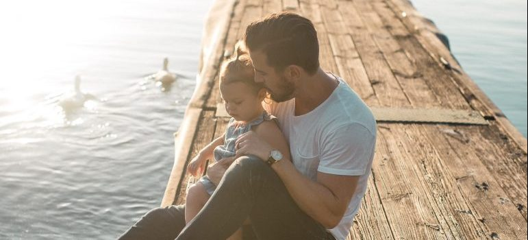 father with daughter contemplating about things to know before moving to salem