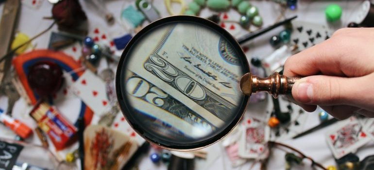 A magnifying glass representing a way to find a job in Manchester