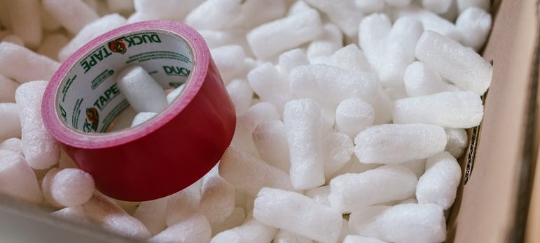 packing peanuts and duct tape used to avoid mistakes when packing antiques