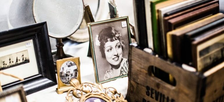 mirror and old pictures in frames