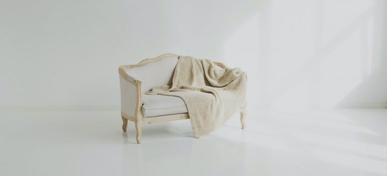 Couch in the middle of the room